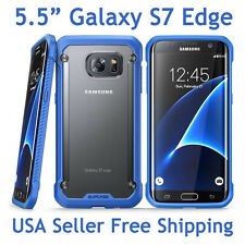 SUPCASE For Samsung Galaxy S7 Edge Unicorn Beetle Hybrid Protective Case Blue
