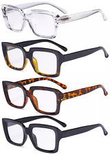 4 PCS Ladies Reading Glasses - Oprah Style Oversized Square Readers for Women