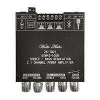 TPA3116D Bluetooth 5.0 Digital Amplifiers Board 2.1 Channel Audio 2*50W+100W AUX