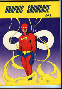 "Fall 1967 ""GRAPHIC SHOWCASE"" #1 VF/NM early Kaluta comic book fanzine scarce"