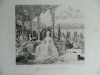 Incisione XIX Miss Di Clermont Per Sylvie Marie-Anne Di Borbone-Condé 1898