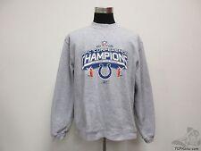 Reebok Indianapolis Colts Crewneck Sweatshirt sz L Large 2006 AFC Champions