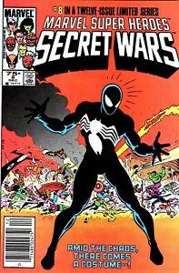 SECRET WARS #8 HIGH GRADE! 1ST BLACK COSTUME MARVEL COMICS 1984-NO RESERVE!!!