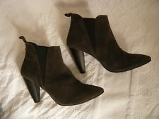 Jones Grey Real Suede Pull On Ankle Boots Size 42/8