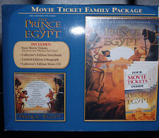 GIFT SET Collectors PRINCE Of EGYPT Movie Ticket Family Pack UNOPENED