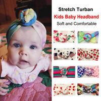 Bohemia Printed Infant Girl Hair Band Newborn Baby Headband Knotted Turban