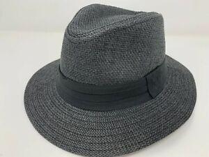 Women Men Straw Hat Trilby Cuban Cap Summer Beach Sun Panama Short-Brim Unise