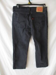 Levi's 514 Cotton Blnd 33 x 25  Black Straight Fit Jeans