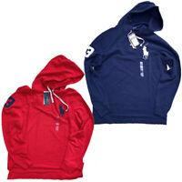 NWT Polo Ralph Lauren Mens mesh hoodie shirt BIG PONY S M L XL XXL Long Sleeve