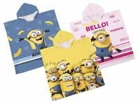 Poncho Beach Towel Pool Towels Minion Despicable Cotton Girls Boys Hooded Bath