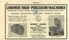 1953 Herbert Lindner Berlin Precision Machines Ad