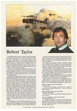 Robert Taylor - Aviation and Marine Artist- Biography Flyer