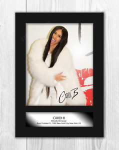 Cardi B A4 signed mounted photograph picture poster. Choice of frame.