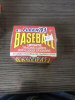 "1991 Fleer Update Baseball Complete Factory ""Sealed"" Set (132-Cards + Stickers)"