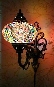 Turkish Moroccan Mosaic Wall Lamp Handmade Colorful Tiffany Lamp FREE Led Bulb