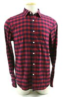 Untuckit Men's Long Sleeves Shirt Size Large Slim Fit Chekered Red Navy Blue