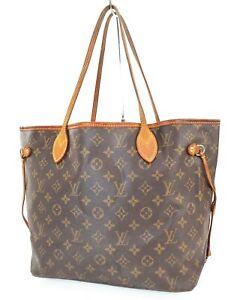 Authentic LOUIS VUITTON Neverfull MM Monogram Tote Bag Purse #39337