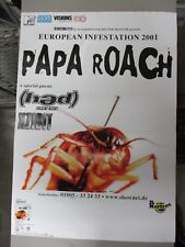 German Rock Roll Concert Poster Papa Roach European Infestation 2001 Hed Xzibit