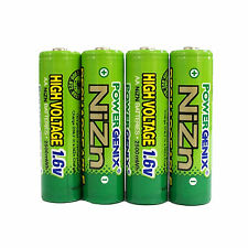 4 pcs AA 2500mWh Ni-Zn 1.6V Rechargeable Battery RC Solar PowerGenix US Stock