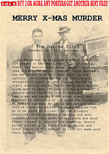 BONNIE AND CLYDE GANGSTER MOBSTER WANTED PUBLIC BANK ROBBERS FBI PARKER BARROW