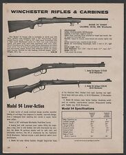 1975 WINCHESTER Model 70 Target Rifle, 94 Regular & Antique Lever Carbine AD