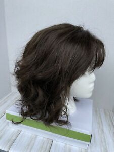 WREN Wig by ESTETICA Lace Front,Mono Part, Natural Feel,SynthetIc R4/6 Pre-owned