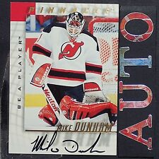 MIKE DUNHAM  1997-98  Be A Player  Autographs  #110  New Jersey Devils