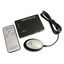 3 Port 1080P HDMI Switch Switcher SELETTORE 3 x in a 1 x uscita con telecomando