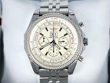 $10,840 Breitling Bentley 6.75 A44362 49mm Chronograph Men's Wrist Watch White
