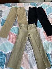 Nwt Boys Lot Of 3 Uniform Black Khaki Pants - Size 6