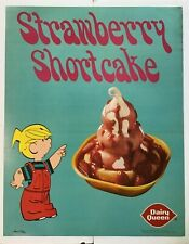 Vintage Dairy Queen Poster Dennis The Menace 1972 Strawberry Shortcake Ketcham