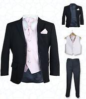 SIRRI Boys 5PC Formal Wedding Suits Pink Cravat Prom Page Boys Suit
