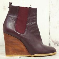 VIGNERON Paris ☘ Keilabsatz Stiefeletten Gr. 41 Damen Leder Schuhe Boots Shoes