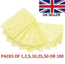 Soldering Iron Tip Cleaning Sponge Pads Mat Eletric Welding High Temperature UK