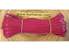 """Kangaroo Lace hot PINK Kangaroo Leather Lacing (3.0mm 1/8"""") 10 meter hank"""