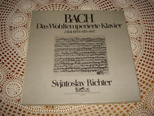 Bach Well Tempered Clavier Part II RICHTER Piano EURODISC MELODIYA 3 LP BOX NM