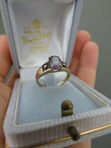 Vintage 9K Yellow Gold Alexandrite ? Amethyst Ring