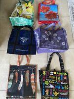Lot 6 Reusable Grocery Tote Bag Hawaii Native Trader Joe Floral Random