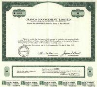BAHAMAS - Gramco Management Ltd., Aktie über 5 Bah-$, NASSAU, Mai 1969 !