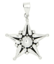 STERLING SILVER OVERSIZED FANCY STAR - STARFISH STYLE PENDANT