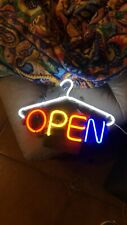 "Open Shop Neon Lamp Sign 14""x10"" Acrylic Bright Lighting Bar Artwork Decor Glass"