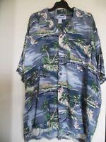 Men's UTILITY Short Sleeve Hawaiian Rayon Shirt  Sz XL