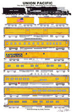"Union Pacific Big Boy Great Race Train 11""x17"" Poster by Andy Fletcher signed"