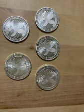 sd bullion 1 oz round liberty eagle; lot of 5