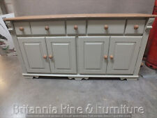 REGENCY PAINTED 6FT SIDEBOARD- SOLID OAK TOP- BESPOKE- HAND MADE- FRENCH GRAY