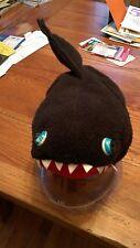 youth size XL Teazer brand shark Black Stuffed animal plush polyester fleece hat
