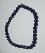 Handstrung Genuine Lapis Stone 4-5mm Bead Beaded Stretch Bracelet blue