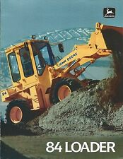 Equipment Brochure - John Deere - 84 - Wheel Loader - 1987 (E3739)