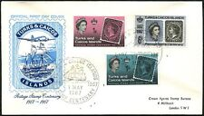 Turks & Caicos Islands 1967 Postage Stamp Centenary FDC First Day Cover #C47044