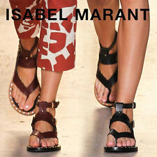 ISABEL MARANT JUSTY STUDDED LEATHER SANDALS 38 UK 5